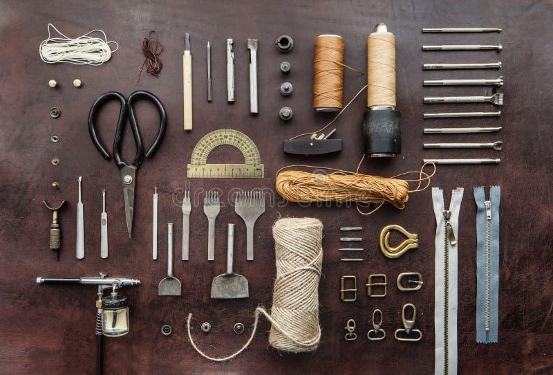 Инструменты Leathercraft стоковые изображения