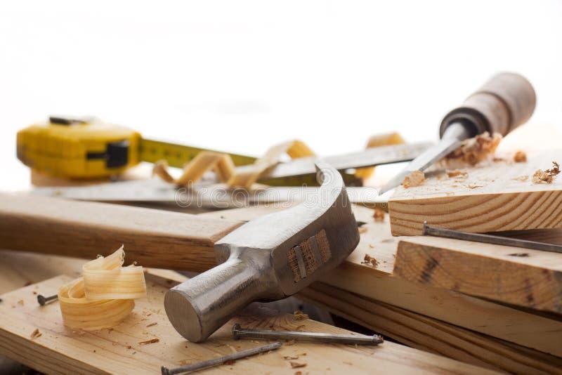 инструменты woodworker стоковые изображения rf