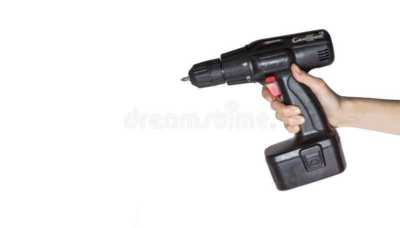 Инструмент в руке на белой предпосылке стоковые фото