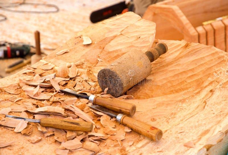 Инструмент для деревянного гравера стоковые фото