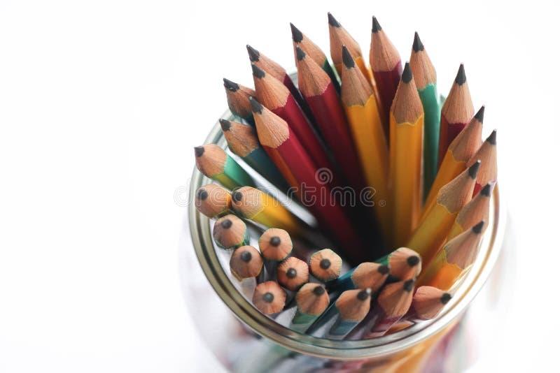 Инструмент оборудования объекта группы карандашей острый для создает чертеж стоковые изображения rf