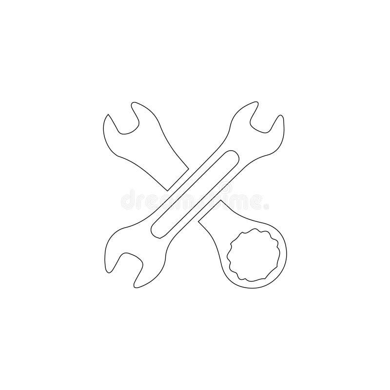 Инструмент плоский значок вектора иллюстрация вектора