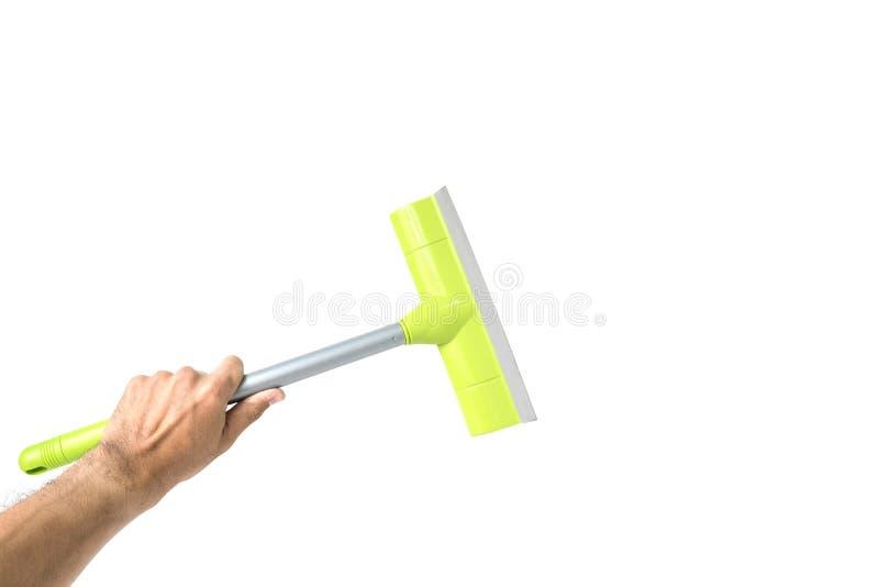 Инструмент стеклянного уборщика в руке стоковые изображения rf