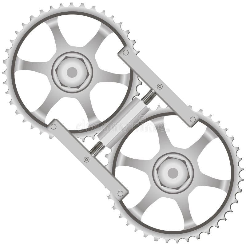 Инструмент фиксируя шестерни иллюстрация вектора