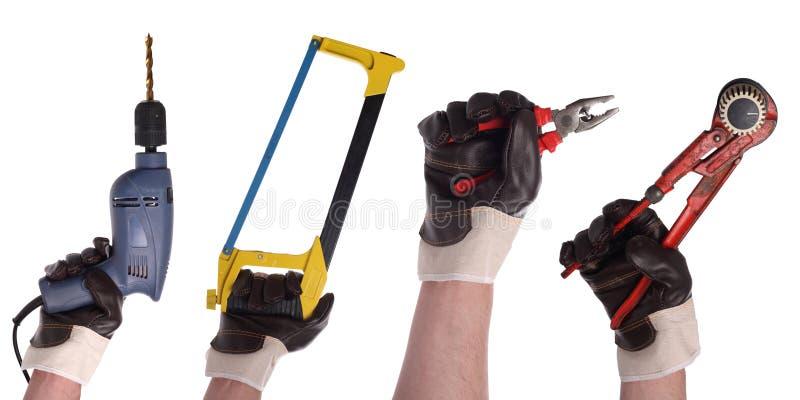 инструмент 3 рук установленный стоковые изображения