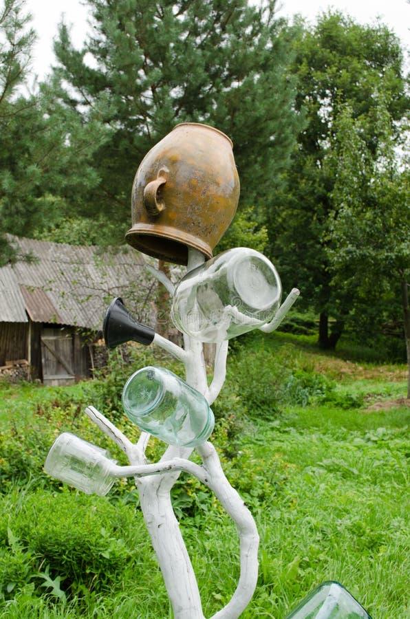 Баки инструмента Handmade печки сухие jar сад дома фермы стоковое фото