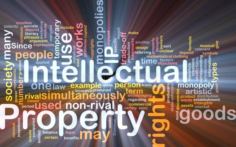 интеллектуальная собственность принципиальной схемы предпосылки иллюстрация штока