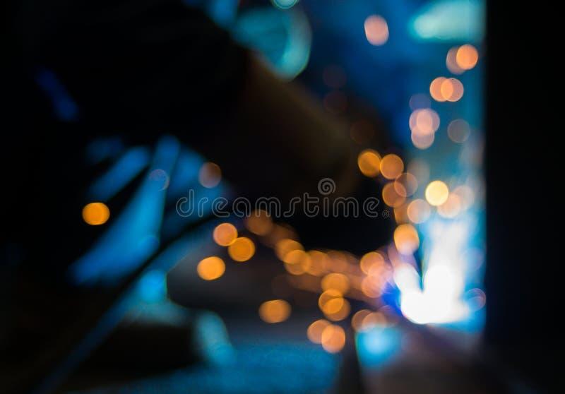 Интенсивный светлый оператор заварки виртуальный и ослепляя стоковое изображение rf