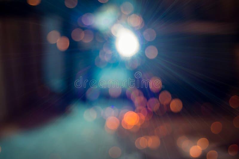 Интенсивный светлый оператор заварки виртуальный и ослепляя стоковая фотография rf
