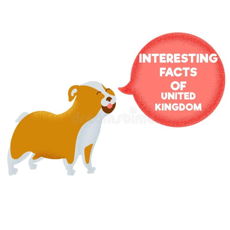 Интересные факты символа бульдога Великобритании животного бесплатная иллюстрация