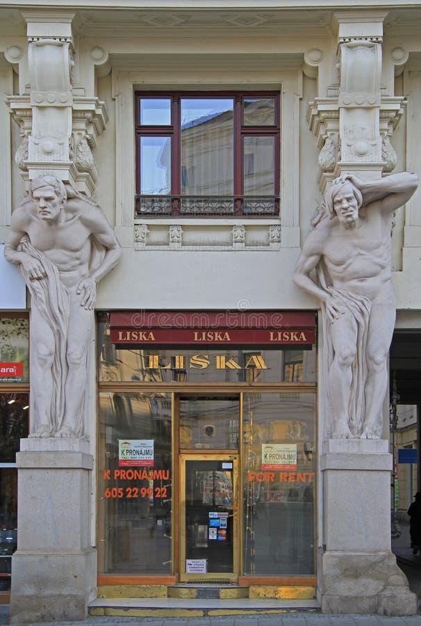 Интересный фасад жилого дома стоковые фото