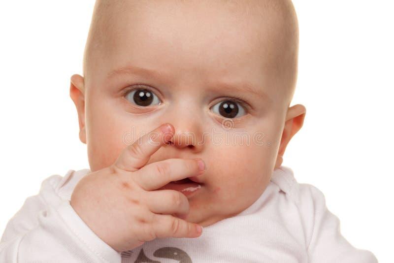 интересовать стороны младенца стоковые изображения rf