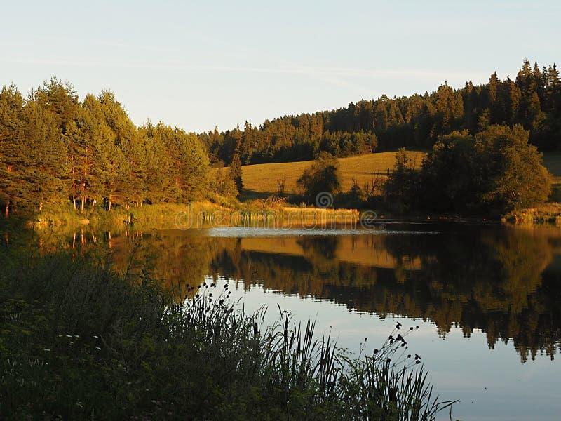 Интересы природы и ясного озера, которое отражает яркость бесплатная иллюстрация