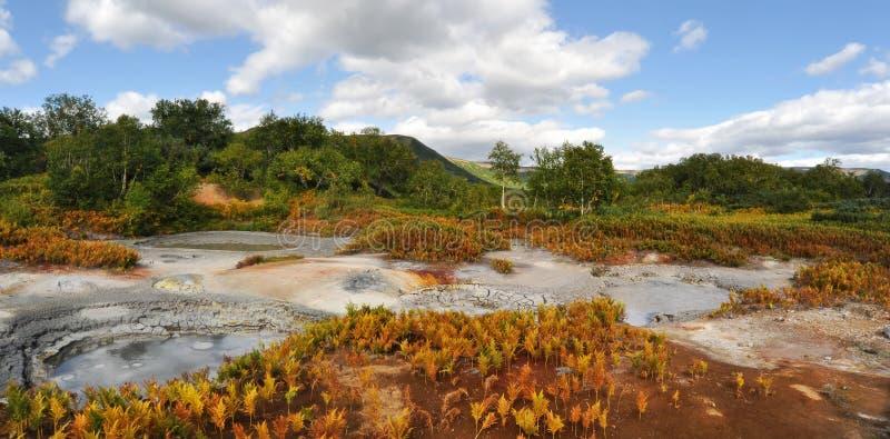 интересы uzon kamchatka кальдеры стоковое изображение