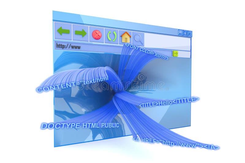 интернет браузера иллюстрация вектора