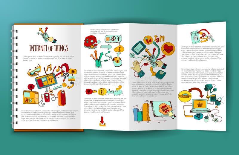Интернет брошюры вещей бесплатная иллюстрация