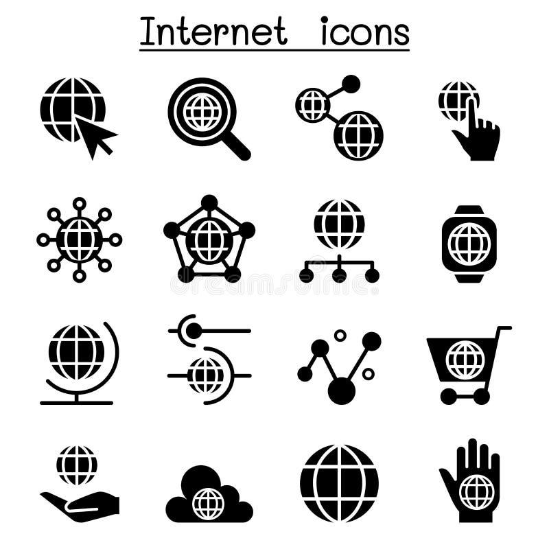 Интернет, вебсайт, значки технологии иллюстрация штока