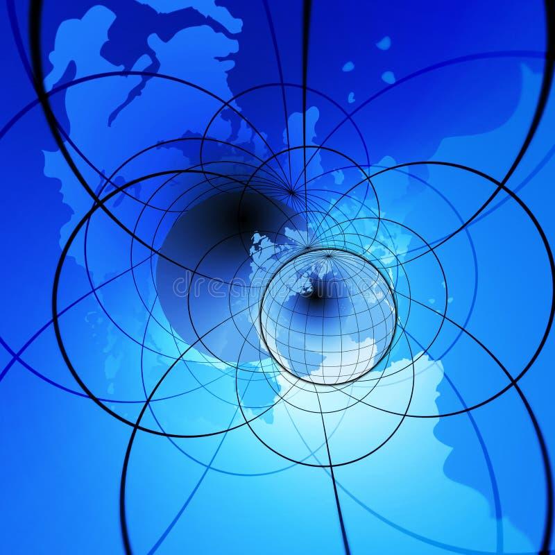 интернет глобуса иллюстрация штока
