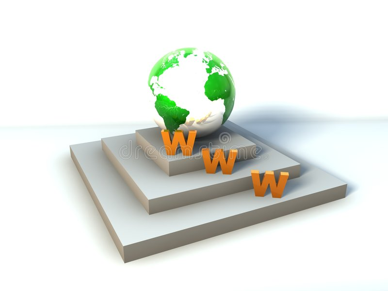 интернет глобуса иллюстрация вектора