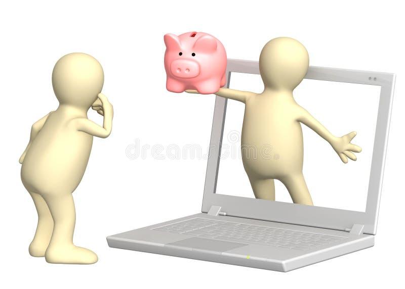 интернет заработков иллюстрация вектора