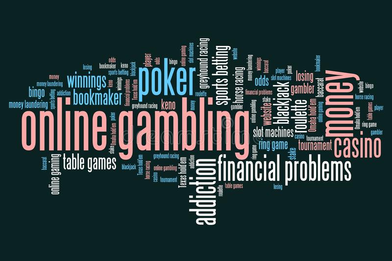 Интернет играя в азартные игры иллюстрация вектора