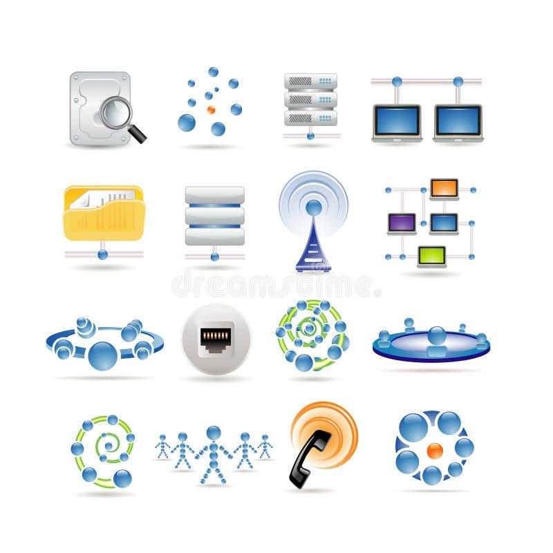 интернет икон соединения иллюстрация вектора