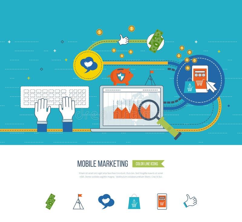 Интернет и передвижная концепция маркетинга прочешите покупка руки фокуса dof он-лайн отмелая очень Операции с ценными бумагами бесплатная иллюстрация