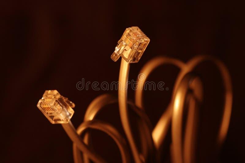 интернет кабеля стоковые фото