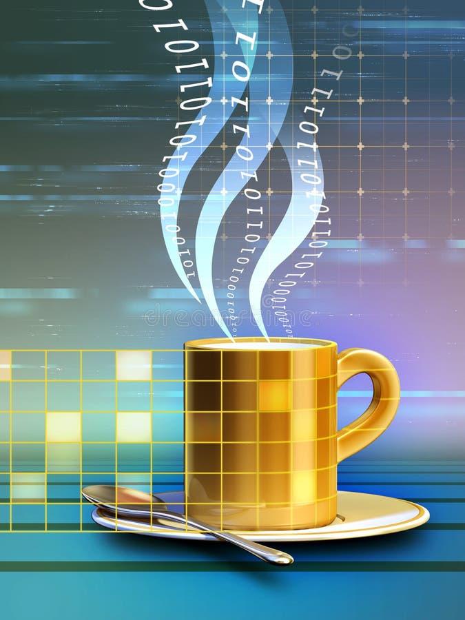 интернет кафа иллюстрация вектора