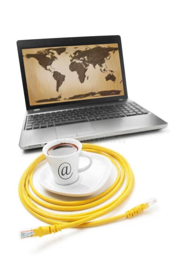 интернет кафа стоковая фотография