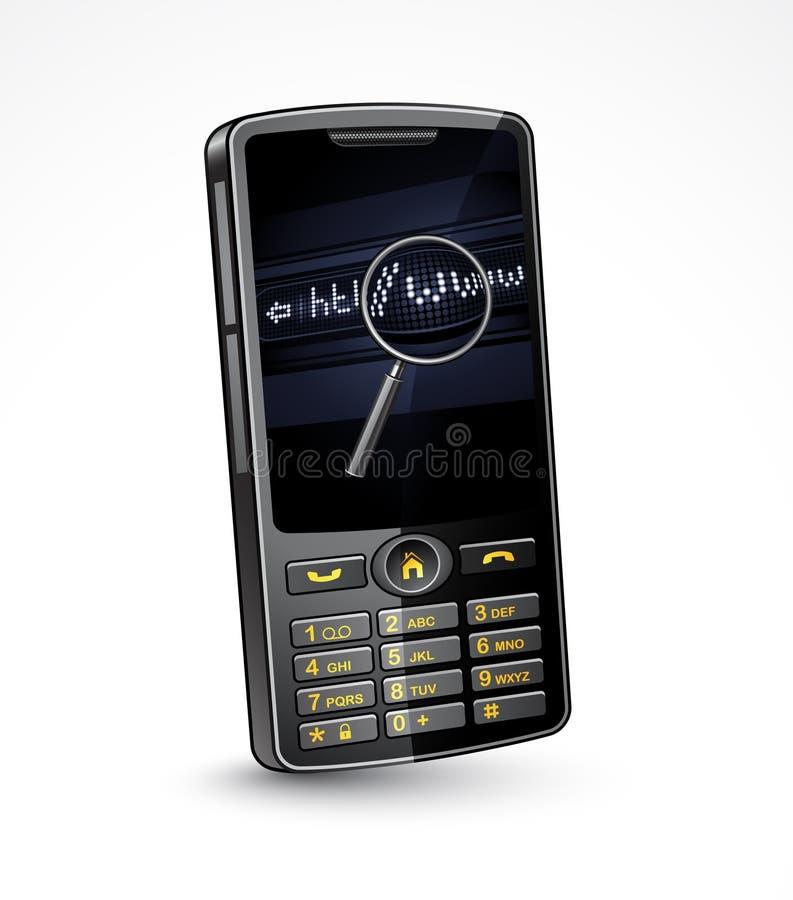 интернет мобильного телефона иллюстрация штока