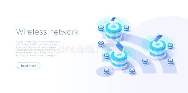 Интернет плана вещей Синхронизация и соединение IOT онлайн через беспроводную технологию смартфона Умная домашняя концепция с иллюстрация штока