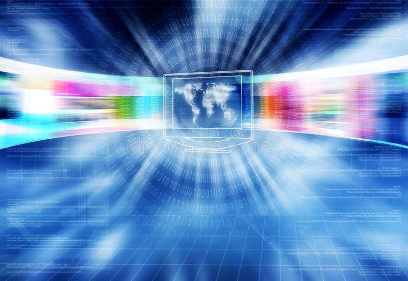 интернет принципиальной схемы 01 broadband иллюстрация штока