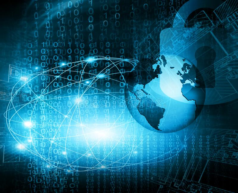интернет самой лучшей принципиальной схемы дела гловальный предпосылка технологическая Абстрактная предпосылка цифровой технологи иллюстрация вектора
