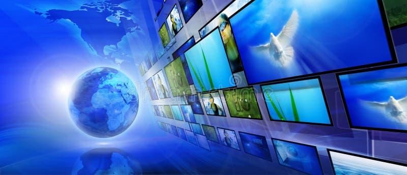 интернет сини предпосылки стоковая фотография rf