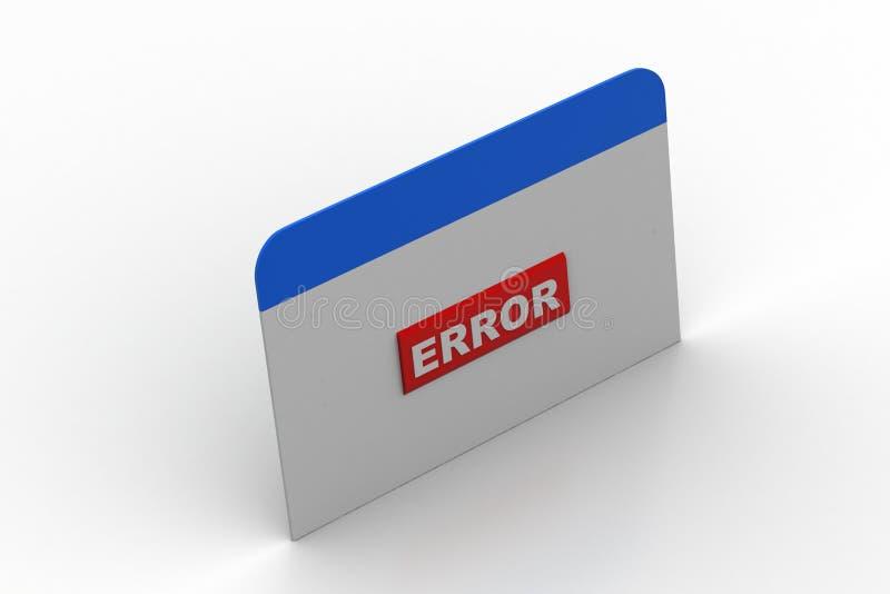 Интернет-страница показывая ошибку иллюстрация вектора