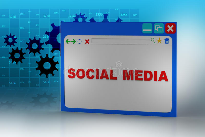Интернет-страница показывая социальную концепцию средств массовой информации иллюстрация штока