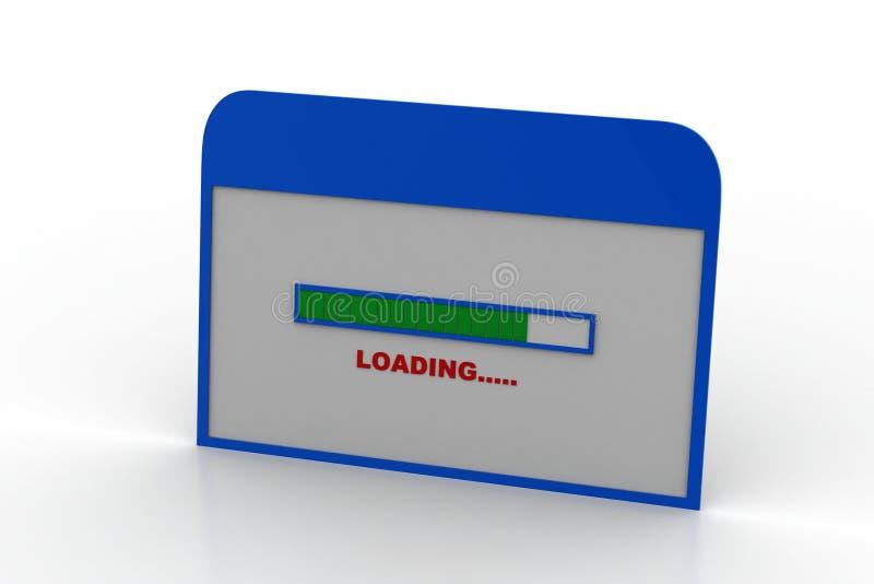 Интернет-страница показывая экран загрузки стоковая фотография