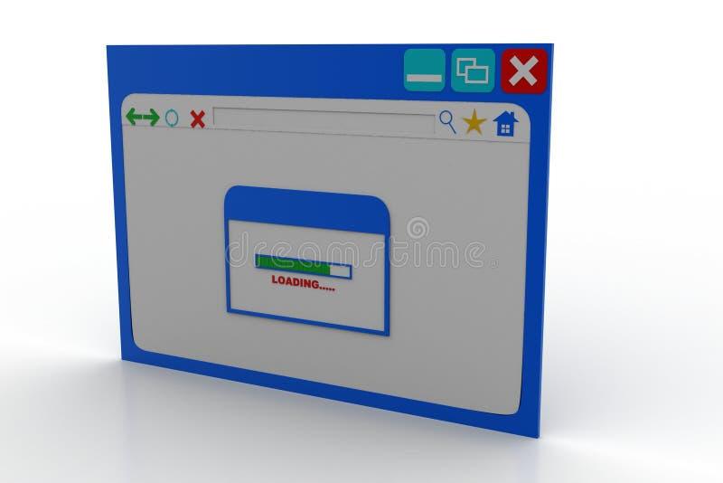Интернет-страница показывая экран загрузки стоковое фото