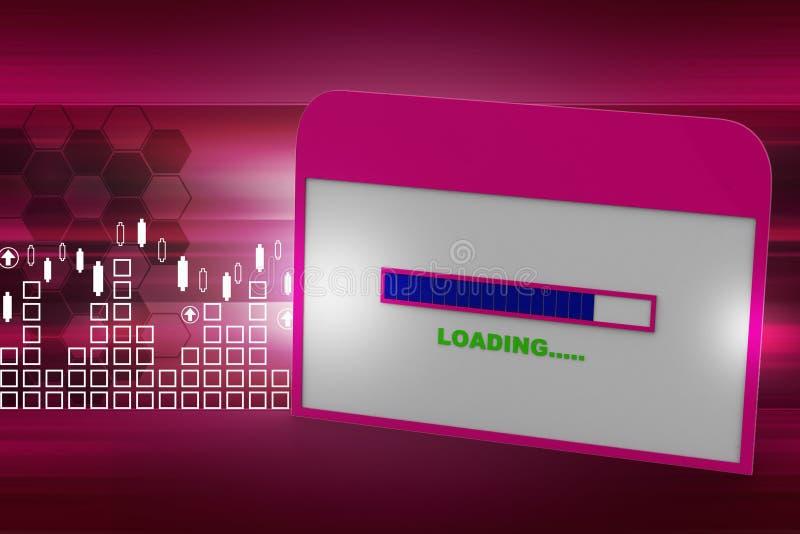 Интернет-страница показывая экран загрузки бесплатная иллюстрация