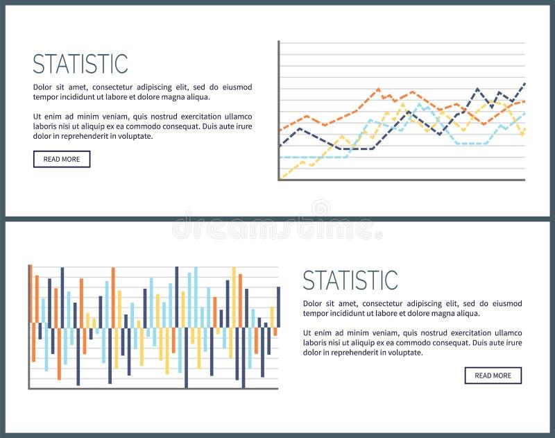 Интернет-страницы статистики, диаграммы и набор Infographics иллюстрация штока