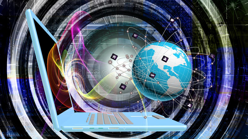 Интернет иллюстрация вектора