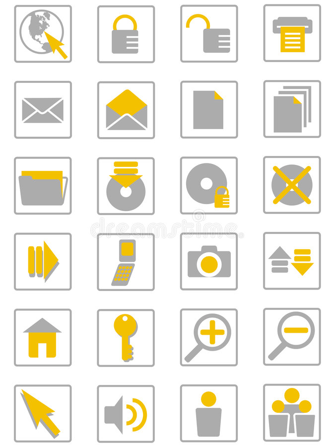 интернет icons01 иллюстрация вектора