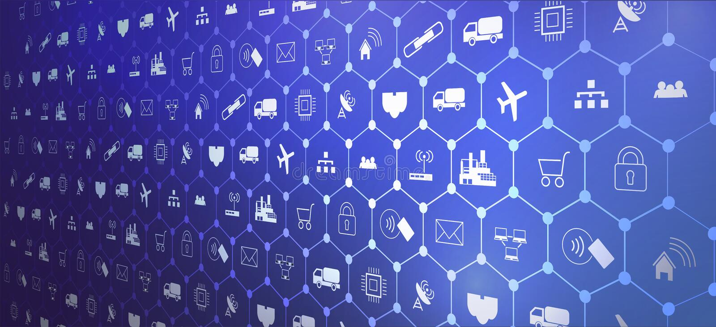 Интернет IoT индустрии 4 вещей 0 предпосылок бесплатная иллюстрация