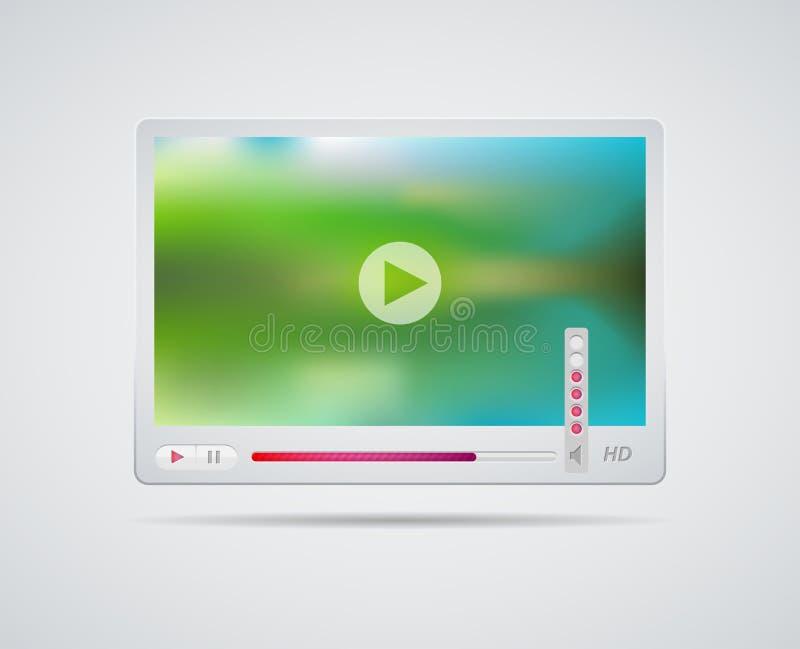 Интерфейс видео-плейер иллюстрация штока