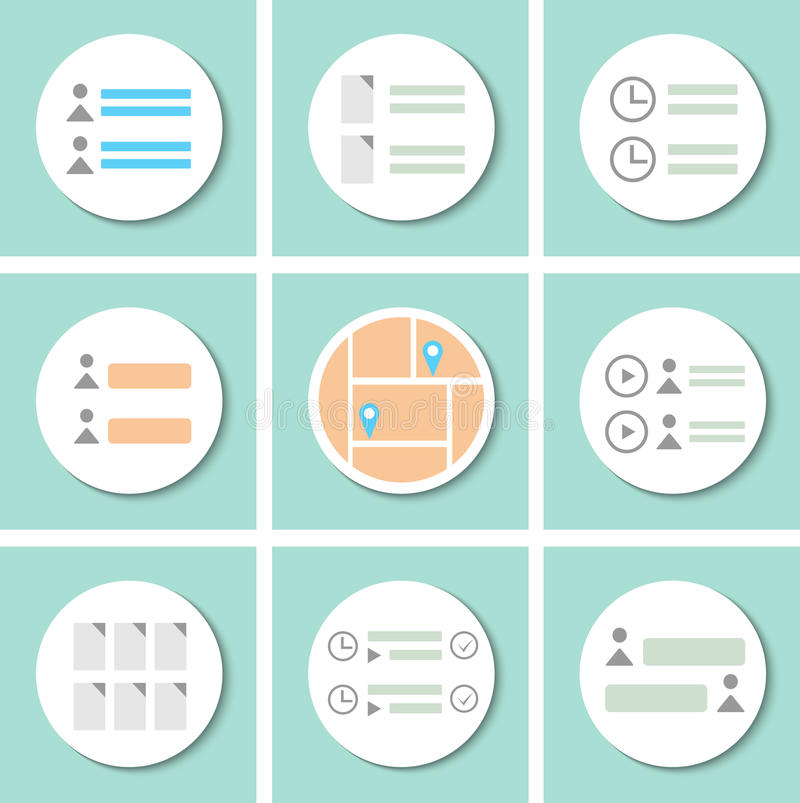 Интерфейс, который нужно конструировать бесплатная иллюстрация