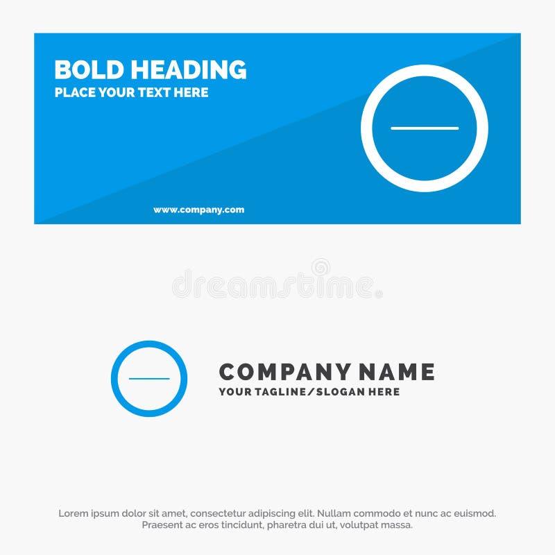 Интерфейс, минус, знамя вебсайта значка потребителя твердые и шаблон логотипа дела бесплатная иллюстрация