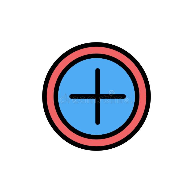 Интерфейс, положительная величина, значок цвета потребителя плоский Шаблон знамени значка вектора бесплатная иллюстрация