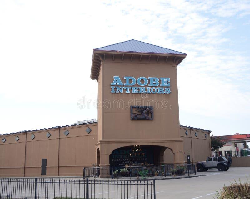 Интерьеры Adobe, Fort Worth, Техас стоковые фотографии rf