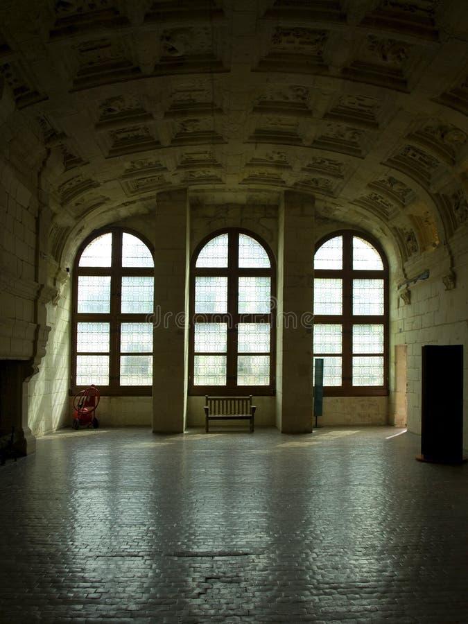интерьеры chambord замока стоковое изображение rf